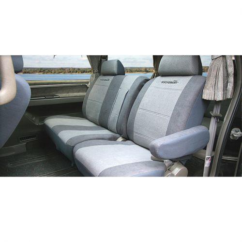 Авточехлы Autoprofi Transform, на кресло, диван и 2 подлокотника, 9 предметовMPV-002 D.GY/L.GYАвточехлы Autoprofi Transform разработаны специально для микроавтобусов, минивэнов и внедорожников. Данная серия чехлов включает 6 моделей различной комплектации, которые учитывают любые варианты расположения кресел в салоне. Благодаря этому и раздельной схеме надевания чехлами можно оснастить как пяти-, так и семи- или восьмиместный автомобиль. Серия Transform изготавливается из износостойкого перфорированного велюра, придающего интерьеру автомобиля уютный и ухоженный вид. При необходимости чехлы легко снимаются и быстро сохнут после стирки. Комплектация: - 1 одинарная спинка, - 1 одинарное сиденье, - 1 полуторная спинка, - 1 полуторное сиденье, - 2 подлокотника, - 3 подголовника, - набор фиксирующих крючков. Особенности: - предустановленные крючки на широких резинках, - толщина поролона: 5 мм.
