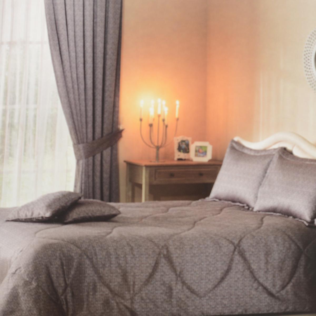 """TAC Комплект для спальни ТАС """"Bonsai"""", цвет: сиреневый, коричневый, 5 предметов. 4932-60080601"""
