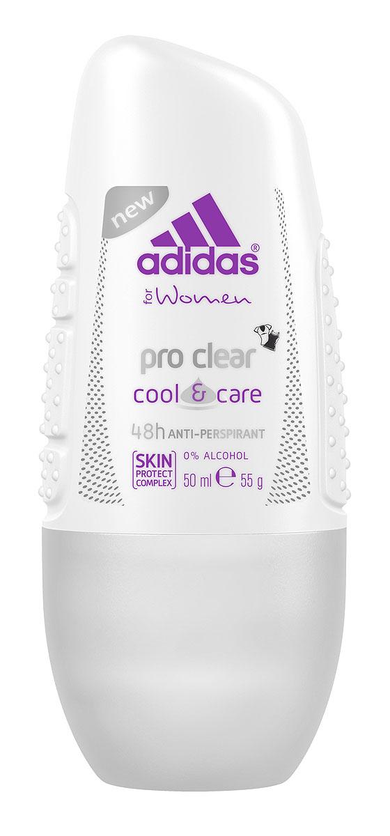Adidas Дезодорант шариковый Pro Clear. Cool & Care, женский, 50 мл3401334031Дезодорант Adidas Pro Clear. Cool & Care - уникальная комбинация трех функций для самой лучшей защиты против пота. Защита 48 часов, свежесть и сухость. Не оставляет следов на одежде. Характеристики: Объем: 50 мл. Производитель: Испания. Товар сертифицирован.