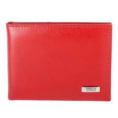 Футляр для карточек Tirelli Классик, цвет: красный. 15-319-0615-319-06Футляр для карточек Tirelli Классик изготовлен из натуральной кожи красного цвета с матовой текстурой. Внутри содержится блок из 10 прозрачных файлов на 18 пластиковых карт или визиток. Также имеется 4 дополнительных кармашка для пластиковых карт. Такой футляр не только поможет держать в одном месте все пластиковые карты, но и стильно дополнит ваш яркий образ. Футляр упакован в подарочную коробку синего цвета с логотипом фирмы Tirelli.