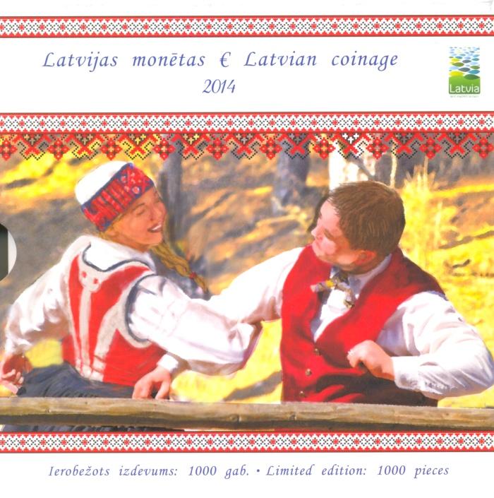 Годовой набор монет за 2014 год в буклете Латвийский национальный узор. Латвия, 2014 годF30 BLUEГодовой набор монет за 2014 год в буклете Латвийский национальный узор. Латвия, 2014 год Размер буклета: 15 х 15 см Номиналы монет: 1 цент, 2 цента, 5 центов, 10 центов, 20 центов, 50 центов, 1 евро, 2 евро Качество монет: UNC (без обращения)