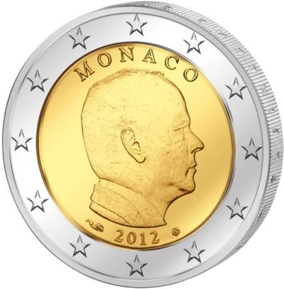 Монета номиналом 2 евро Князь Альбер II. Монако, 2012 годF30 BLUEМонета номиналом 2 евро Князь Альбер II. Монако, 2012 год Диаметр 2,5 см. Сохранность UNC (без обращения).