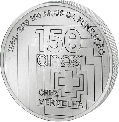 Монета номиналом 2,5 евро 150 лет Красному Кресту. Португалия, 2013 годF30 BLUEМонета номиналом 2,5 евро 150 лет Красному Кресту. Португалия, 2013 год Металл: Cu-Ni Диаметр: 28 мм Масса: 10,0 г Тираж: 100000 шт. (UNC) Состояние: UNC