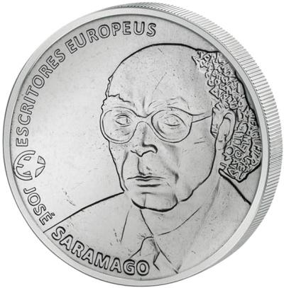 Монета номиналом 2,5 евро Жозе Сарамаго. Португалия, 2013 годF30 BLUEМонета номиналом 2,5 евро Жозе Сарамаго. Португалия, 2013 год Металл: Cu-Ni Диаметр: 28 мм Масса: 10,0 г Тираж: 100000 шт. (UNC) Состояние: UNC Скульптор: Vitor Santos