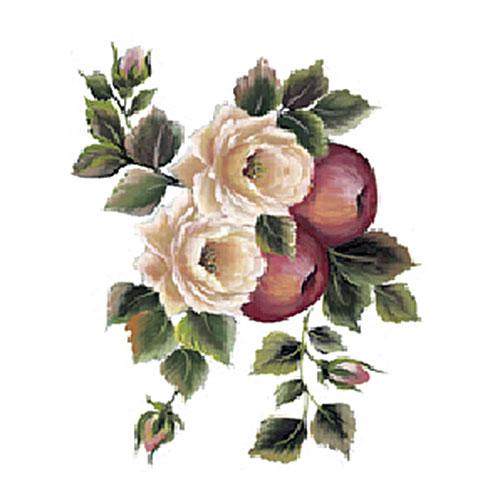 Трансфер универсальный Розы с яблоками, 17 х 25 см G-161G-161Трансфер Розы с яблоками предназначен для имитации декоративной росписи при оформлении интерьера. Добавьте оригинальность вашему интерьеру с помощью яркого изображения. Оригинальное исполнение добавит изысканности в дизайн. Трансфер прост в применении. В комплекте подробная инструкция.