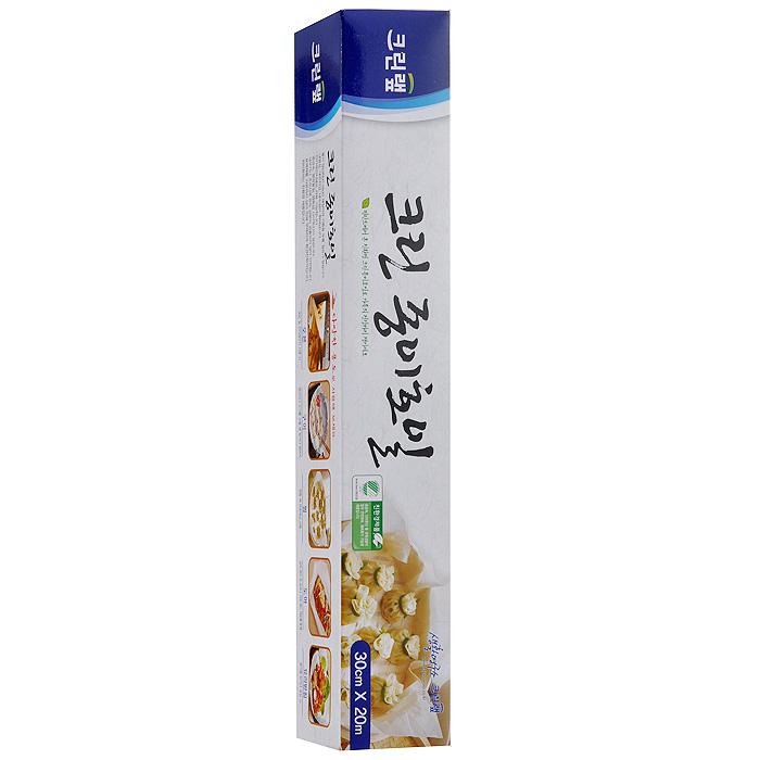 Бумага для запекания Clean Wrap Clean Paper Foil, 30 cм х 20 м54511Бумага для запекания Clean Wrap Clean Paper Foil имеет двустороннее силиконовое (кремниевое) покрытие бумаги, что делает ее не липкой, жаростойкой, жиростойкой и водостойкой. Жар при приготовлении пищи проходит в обоих направлениях. Безопасный продукт, свободный от токсичных материалов, таких как тяжелые металлы и диоксин. Безопасен для окружающей среды, т.к. полностью перерабатывается микроорганизмами. Безопасен при использовании в СВЧ. Способы применения: - для приготовления пищи в электрических и СВЧ печах, - при жарки (запекании) используется в виде подкладки или путем заворачивания продуктов, - при приготовлении пищи на пару используется вместо хлопковой ткани, - при разделывании продуктов, в том числе, когда продукты сильно пахнут или могут окрасить разделочную доску, - для упаковки продуктов.