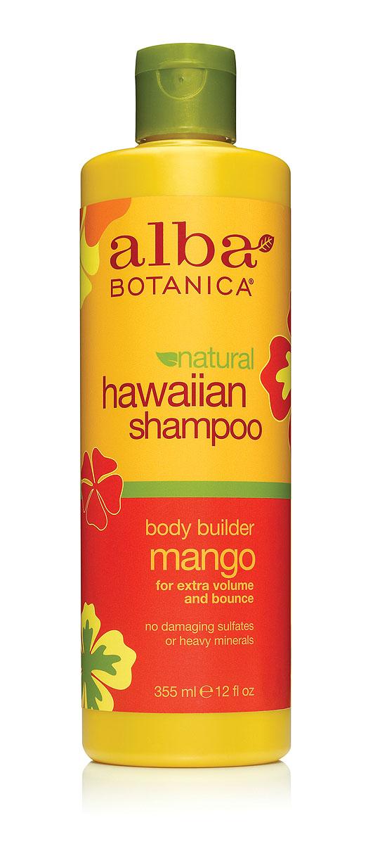 Alba Botanica Гавайский шампунь Body Builder Mango, с манго, 355 млAL00851Шампунь Alba Botanica, улучшающий объем и эластичность волос, имеет приятный аромат манго, хорошо смягчает кожу головы и предотвращает раздражения. Содержит экстракты и масла тропических растений, которые восстанавливают защитный водно-липидный барьер кожи и кератиновый слой волос. Благодаря специальному растительному комплексу снимает раздражение кожи головы, обеспечивая длительный комфорт и свежесть. Характеристики: Объем: 355 мл. Артикул: AL00851. Производитель: США. Товар сертифицирован. Состав: вода, кокомидопропилбетаин, гидроксипропилсульфонат натрий, лаурил глюкозид, масла семян лакового дерева (кукуи), масло макадамия, сок алое вера, экстракт ананаса, экстракт папайи, экстракт ламинарии, экстракт манго, экстракт имбиря, аскорбиновая кислота, масло бабасу, полиглицерил-4, лимонная кислота, глицерин, гликопротеины, гуар гидроксипропилтримониум хлорид, гидролизированные протеины сои, гидролизат...