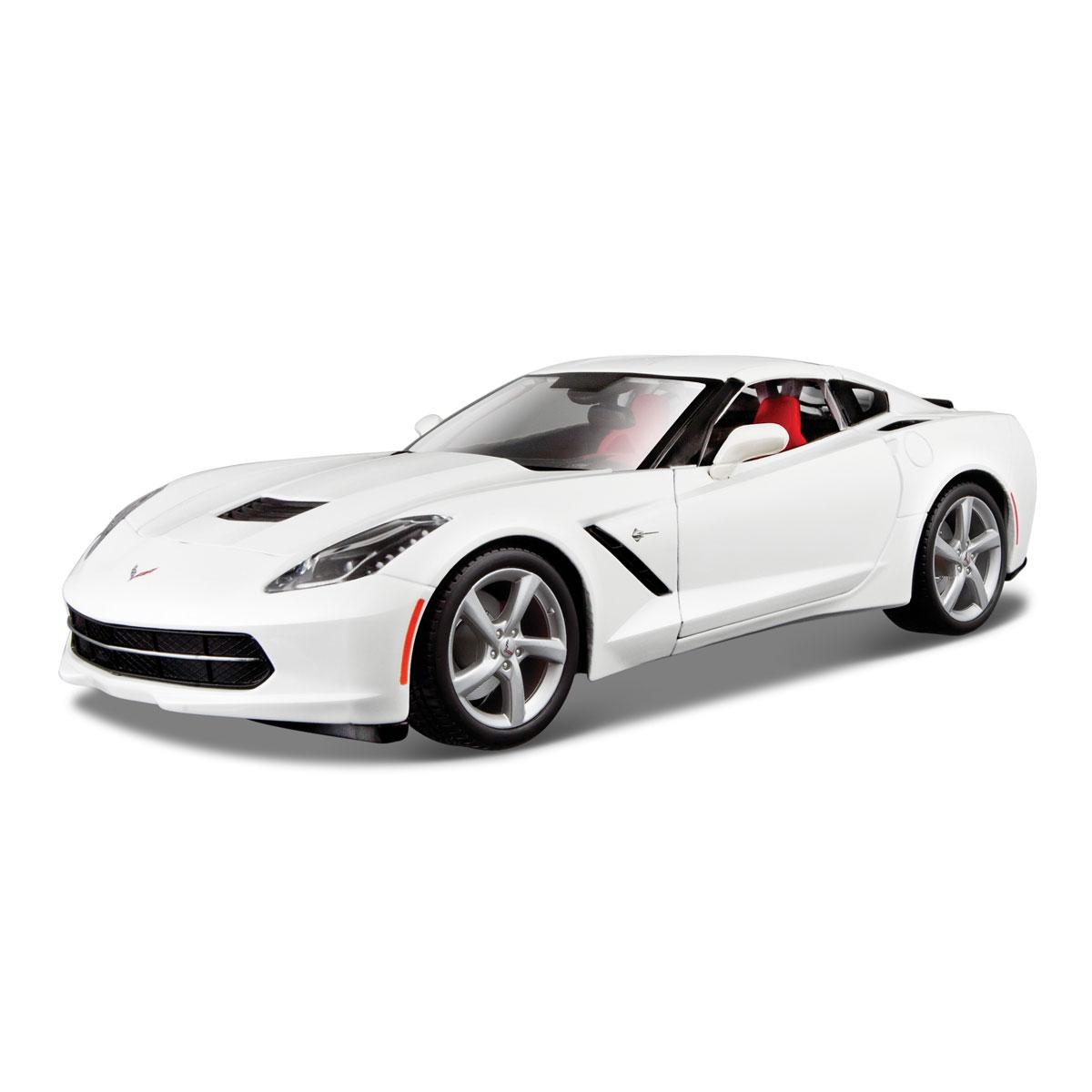 31182 Машина 2014 Corvette 1:18 6/631182Машина 2014 Corvette. Высококачественные коллекционные модели автомобиля серии Special Edition в масштабе 1:18 - литые металлические корпуса с высокой детализацией двигателя, интерьера салона, дисков, протекторов, выхлопной системы. У большинства моделей открывается двери, капот и багажник. Модель сделана из металла и пластика. Игрушки в точности повторяют модели оригинальной техники, подробная детализация в полной мере позволит вам оценить высокую точность копии этой машины! Разнообразие цветов на ваш вкус! Возраст: с 3-х лет. Производство Китай.