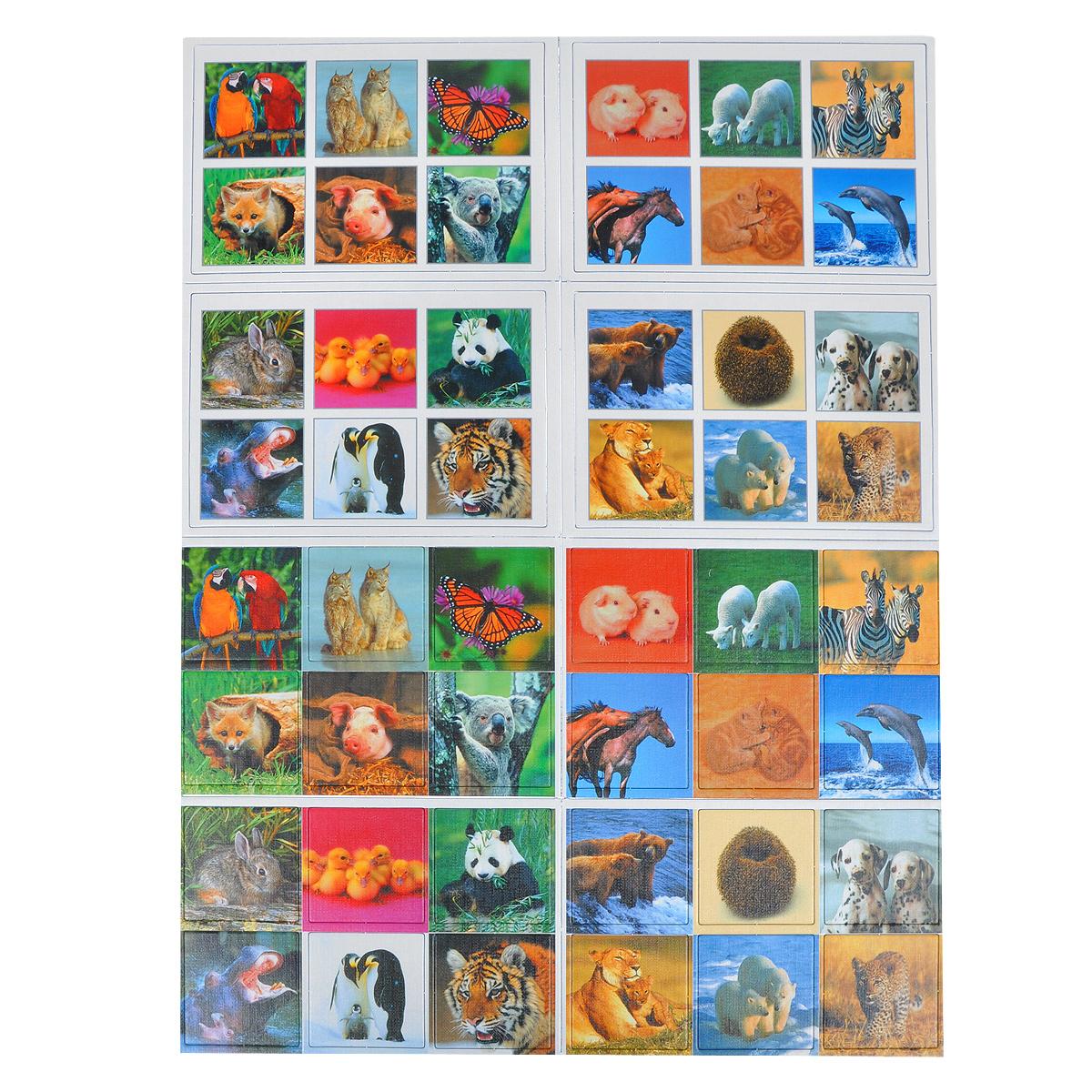 Лото Bondibon ЗверюшкиВВ1013Увлекательная настольная игра лото Зверюшки позволит вашему ребенку весело и с пользой провести время. Игра включает четыре большие таблицы, 24 маленькие карточки с изображениями различных животных и подробной инструкции на русском языке. Это классическое лото, специально адаптированное для малышей. Вместо цифр на таблицах – реалистичные и яркие фотографии зверей, которые понравятся и детям и взрослым. Игрокам необходимо первым закрыть изображения на таблицах соответствующими картинками. Вместе с лото малыш сможет изучить названия незнакомых животных, составить о них предложения, придумать небольшие рассказы. Игра развивает внимание и тренирует зрительную память. Характеристики: Количество игроков: 1-4 человека. Размер таблицы: 14 см x 9,5 см. Размер карточки: 4,5 см x 4,5 см. Размер упаковки (ДхШхВ): 11,5 см x 18,5 см x 3,5 см.