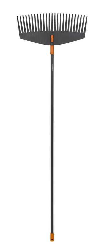 Грабли для листьев большие Fiskars, ширина 52 см(код135014 + код135001)135016Грабли Fiskars предназначены для уборки больших ровных поверхностей. Отлично подойдут для лужаек и дорожек. Благодаря дизайну зубьев листва не застревает между ними. Можно подвешивать для удобства хранения. Характеристики: Материал: металл, пластик. Длина граблей: 1,71 м. Ширина граблей: 52 см. Размер упаковки: 171 см х 52 см х 4 см.