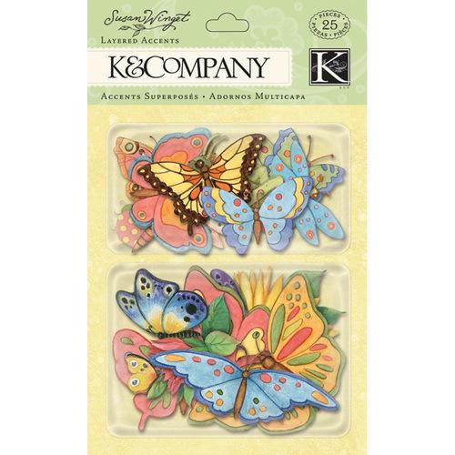 Стикеры K&Company Весенние бабочки. Весна, 25 шт - K&CompanyKCO-30-598768Стикеры K&Company Весенние бабочки. Весна прекрасно подойдут для оформления творческих работ в технике скрапбукинга. Их можно использовать для украшения фотоальбомов, скрап-страничек, подарков, конвертов, фоторамок, открыток и т.д. Объемные стикеры в виде цветов и бабочек оформлены блестками. Задняя сторона клейкая. В наборе - 25 бумажных стикеров разного дизайна и размера. Скрапбукинг - это хобби, которое способно приносить массу приятных эмоций не только человеку, который этим занимается, но и его близким, друзьям, родным. Это невероятно увлекательное занятие, которое поможет вам сохранить наиболее памятные и яркие моменты вашей жизни, а также интересно оформить интерьер дома.