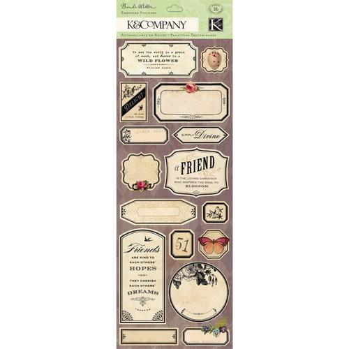 Стикеры K&Company Флора и фауна, 16 штKCO-30-599659Стикеры K&Company Флора и фауна прекрасно подойдут для оформления творческих работ в технике скрапбукинга. Их можно использовать для украшения фотоальбомов, скрап-страничек, подарков, конвертов, фоторамок, открыток и т.д. Задняя сторона стикеров - клейкая. В наборе - 16 бумажных стикеров разного дизайна и размера. Скрапбукинг - это хобби, которое способно приносить массу приятных эмоций не только человеку, который этим занимается, но и его близким, друзьям, родным. Это невероятно увлекательное занятие, которое поможет вам сохранить наиболее памятные и яркие моменты вашей жизни, а также интересно оформить интерьер дома.