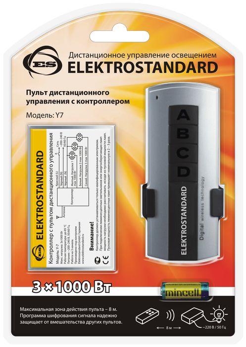 Elektrostandard пульт дистанционного управления электроприборами, 3 каналаa024517Контроллер применяется для дистанционного управления освещением и электрическими приборами. Пульт дистанционного управления не требует чтобы контроллер находился в прямой видимости с контроллером. Программа шифрования радио-сигнала надежно защищает от вмешательства других пультов. В одном помещении может быть установлено несколько контроллеров. Каждый контроллер откликается только на свой пульт. Переключение режимов также осуществляется выключателем без использования ПДУ. При подключении люминесцентных или энергосберегающих лампочек мощность нагрузки необходимо рассчитывать исходя из пусковой мощности. Пусковая мощность люминесцентных ламп превышает номинальную в 2 – 3 раза. Характеристики: Материал: металл, пластик. Максимальная зона действия пульта: 8 метров. Максимальная нагрузка: 3 x 1000 Вт. Питание пульта: 1 х А23 (входит в комплект). Питание контроллера: 220-230 В. Размер упаковки: 19 см х 13 см х 4 см.