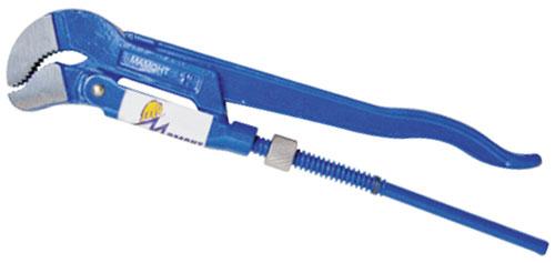 Ключ трубный Мамонт тип S, № 2 - 1 1/2, 420 мм30104212Ключ тип S - для работ в труднодоступных местах и для захвата сложных по форме деталей. Предназначены для захватывания и вращения труб и соединительных частей трубопроводов. Ключ выкован целиком из высококачественной хромованадиевой стали. Имеет порошковое антикоррозийное покрытие.