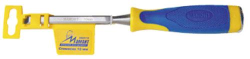 Стамеска Мамонт, 12 мм30601112Стамеска-долото со стальным затыльником предназначена для ударных работ. Высокое качество стали. Литые рукоятки из прочного двухкомпонентного материала предотвращают проскальзывание, обеспечивают комфортный хват и меньшую усталость рук. Пластиковый защитный чехол-подвес.