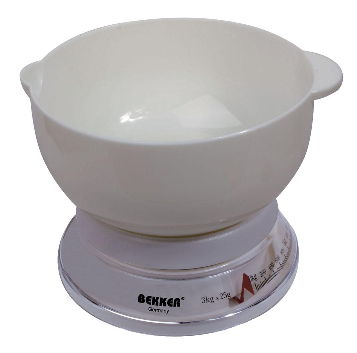 Весы кухонные Bekker BK-23, до 3 кгBK-23Удобные и практичные кухонные весы Bekker BK-23 обеспечивают высокую точность измерений. Весы выполнены пластика и легко впишутся в любой современный кухонный интерьер. Характеристики: Материал: пластик, металл. Объем чаши: 2 л. Цена деления: 25 г. Размер упаковки: 19 см х 19 см х 9 см. Артикул: BK-23.