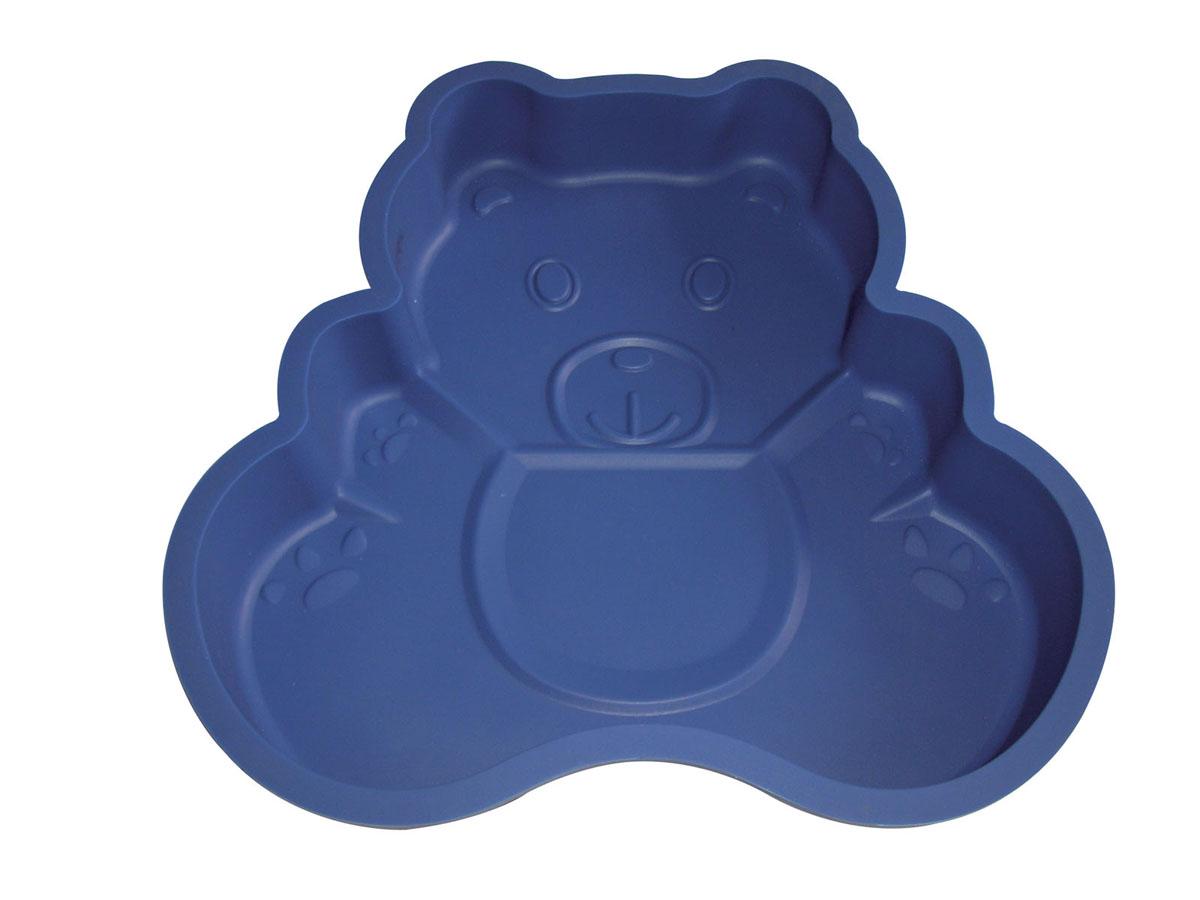 Форма для выпечки Bekker Медвежонок, силиконовая, цвет: синийBK-9420Форма для выпечки Bekker Медвежонок изготовлена из силикона. Силиконовые формы для выпечки имеют много преимуществ по сравнению с традиционными металлическими формами и противнями. Они идеально подходят для использования в микроволновых, газовых и электрических печах при температурах до +230°С. В случае заморозки до -40°С. Можно мыть в посудомоечной машине. За счет высокой теплопроводности силикона изделия выпекаются заметно быстрее. Благодаря гибкости и антиприлипающим свойствам силикона, готовое изделие легко извлекается из формы. Для этого достаточно отогнуть края и вывернуть форму (выпечке дайте немного остыть, а замороженный продукт лучше вынимать сразу). Силикон абсолютно безвреден для здоровья, не впитывает запахи, не оставляет пятен, легко моется. Форма для выпечки Bekker Медвежонок - практичный и необходимый подарок любой хозяйке! Характеристики: Материал: силикон. Внутренний размер формы: 21 см х 22 см х 3,5 см. Размер...