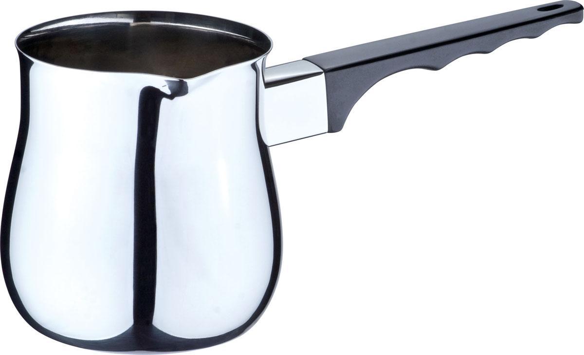 Турка Bekker De Luxe, 680 млBK-8203 (12)Турка Bekker De Luxe выполнена из высококачественной нержавеющей стали 18/10, внутри поверхность - матовая, снаружи - зеркальная. Емкость оснащена прочной бакелитовой ручкой черного цвета с выемками для пальцев. Турка имеет удобный носик для слива. Турку можно использовать на газовых и электрических плитах. Можно мыть в посудомоечной машине.