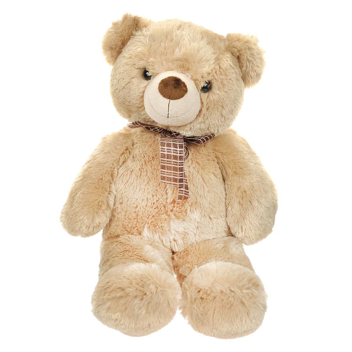 Мягкая игрушка Aurora Медведь, цвет: медовый, 69 см30-249Очаровательная мягкая игрушка Медведь, выполненная в виде медвежонка медового цвета с коричневым в клеточку бантиком на шее, вызовет умиление и улыбку у каждого, кто ее увидит. Удивительно мягкая игрушка принесет радость и подарит своему обладателю мгновения нежных объятий и приятных воспоминаний. Она выполнена из высококачественного плюша с набивкой из гипоаллергенного синтепона. Великолепное качество исполнения делают эту игрушку чудесным подарком к любому празднику. Характеристики: Высота игрушки: 69 см. Материал игрушки: плюш, текстиль, пластик. Материал набивки: синтепон. Изготовитель: Индонезия.