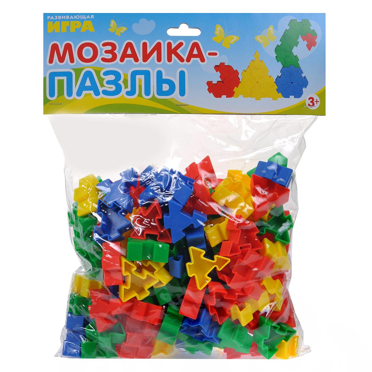 Стрекоза Развивающая игра Мозаика-пазлы4620758632030Детская развивающая игра Мозаика-пазлы - самая творческая и увлекательная игра! Она не только развивает воображение и мелкую моторику, но и усидчивость. Малыш может создавать множество ярких фигур с помощью цветных деталей. Комплектация: набор разноцветных элементов мозаики (4 цвета). Набор упакован в пластиковый прозрачный пакет с подвесом (блистер).