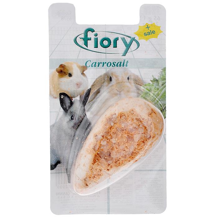 Био-камень для грызунов Fiory, в форме моркови, 65 г06578Био-камень Fiory в виде морковки - это идеальная минеральная добавка для грызунов, которая позволяет им каждый день точить зубы, а также является сбалансированной минеральной добавкой к ежедневному рациону питания. Состав: минералы. Анализ: кальций - 33,84%, фосфор - 0,078%, магний - 0,019%, натрий - 2,41%. Вес: 65 г.