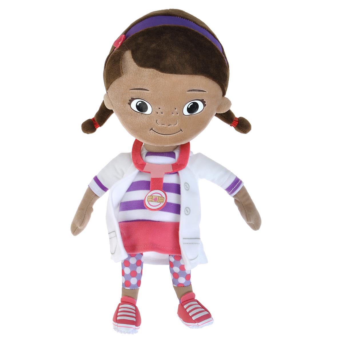 Мягкая игрушка Disney Доктор Плюшева, 32 см1200242Забавная игрушка Доктор Плюшева в виде главного героя одноименного мультфильма привлечет внимание каждого малыша. Она сшита из приятных на ощупь, качественных материалов, полностью безвредных для ребенка. С такой игрушкой можно смело отправляться на прогулку или засыпать в кроватке. Игра с ней способствует развитию тактильной чувствительности и воображения у детей. Характеристики: Материал: текстиль, синтепон. Высота игрушки: 32 см. Размер упаковки: 15 см х 7 см х 35 см. Изготовитель: Китай.