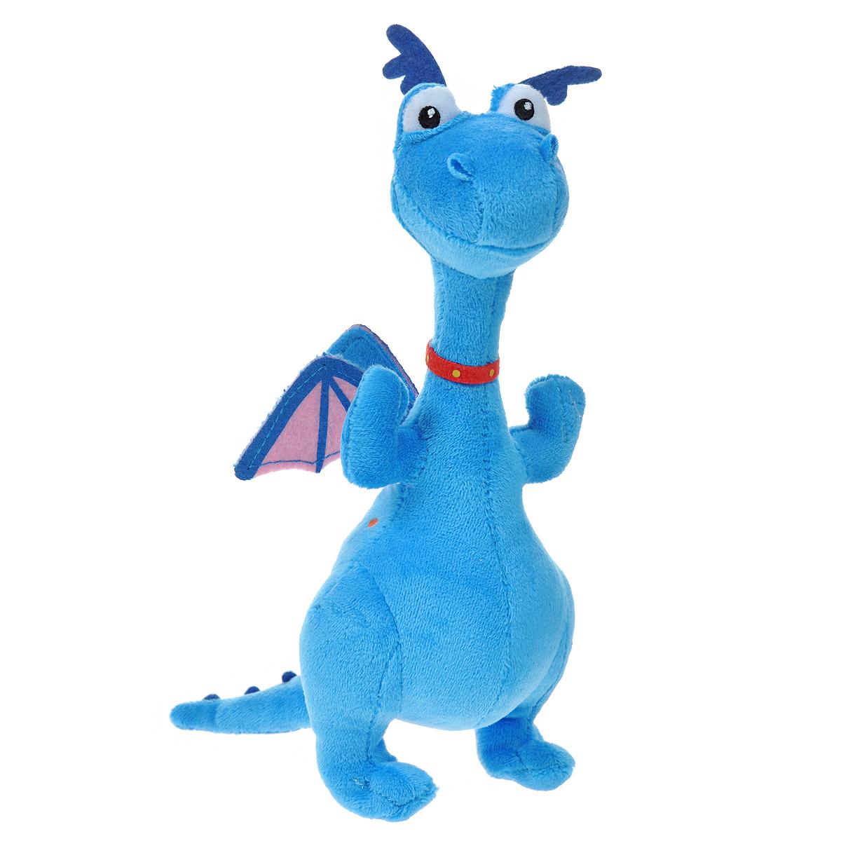 Мягкая игрушка Disney Стаффи, 20 см1200457Забавная мягкая игрушка Disney Стаффи в виде героя мультфильма «Доктор Плюшева» - симпатичного синего динозаврика, привлечет внимание каждого малыша. Она сшита из приятных на ощупь, качественных материалов, полностью безвредных для ребенка. С такой игрушкой можно смело отправляться на прогулку или засыпать в кроватке. Игра с ней способствует развитию тактильной чувствительности и воображения у детей. Характеристики: Материал: текстиль, синтепон. Высота игрушки: 20 см. Размер упаковки: 12 см х 8 см х 22 см. Изготовитель: Китай.