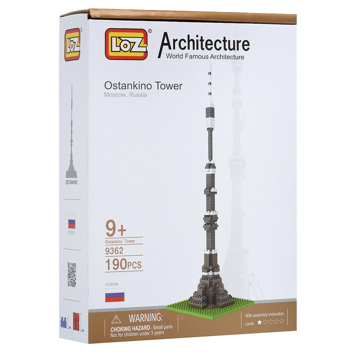 Останкинская башня. Объемный 3D-пазл, 190 элементов ( 9362 )