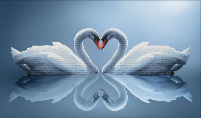 Набор для вышивания крестом Отражения любви, 74 см х 47 см7075-3DКрасивый и стильный рисунок-вышивка, выполненный на канве, выглядит оригинально и всегда модно. В наборе для вышивания Отражения любви есть все необходимое для создания собственного чуда: канва, специальные нити, игла и схема рисунка. Работа, сделанная своими руками, создаст особый уют и атмосферу в доме и долгие годы будет радовать вас и ваших близких. Ведь вы выполните вышивку с любовью!