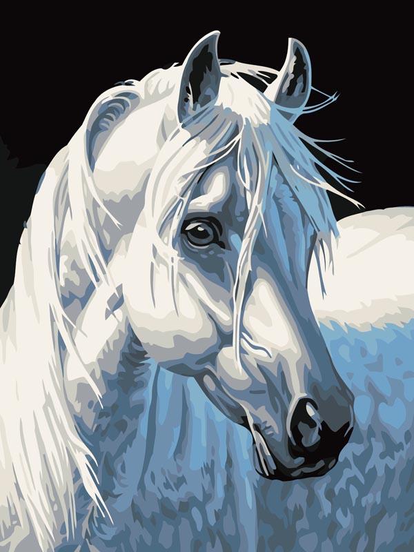 Живопись на холсте Белая лошадь, 30 х 40 смCE-230Живопись на холсте Белая лошадь - это набор для раскрашивания по номерам акриловыми красками на холсте. В набор входят: - холст на подрамнике с нанесенным рисунком, - пробный лист с нанесенным рисунком, - набор акриловых красок, - 3 кисти, - настенное крепление для готовой картины. Каждая краска имеет свой номер, соответствующий номеру на картинке. Нужно только аккуратно нанести необходимую краску на отмеченный для нее участок. Таким образом, шаг за шагом у вас получится великолепная картина с изображением белой лошади. С помощью серии наборов Живопись на холсте вы можете стать настоящим художником и создателем прекрасных картин. Вы получите истинное удовольствие от погружения в процесс творчества и созданные своими руками картины украсят интерьер вашего дома или станут прекрасным подарком. Техника раскрашивания на холсте по номерам дает возможность легко рисовать даже сложные сюжеты. Прекрасно развивает художественный вкус,...