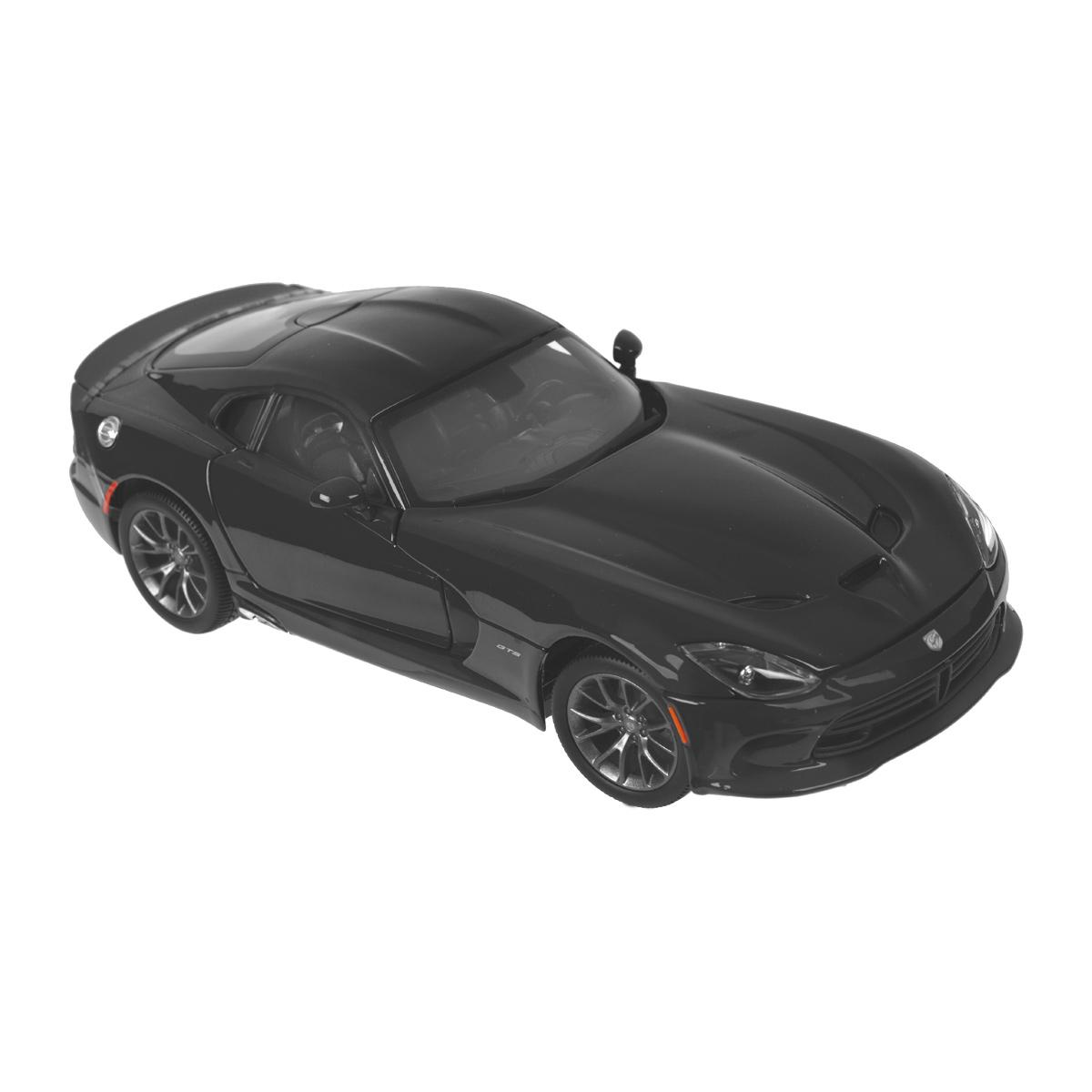 """Maisto Коллекционная модель """"SRT Viper GTS 2013"""", цвет: черный, масштаб 1/18 31128_черный"""