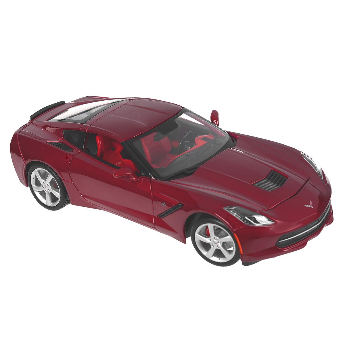 Коллекционная модель Corvette 2014, цвет: красный, масштаб 1/1831182_красныйКоллекционная модель Corvette 2014 - миниатюрная копия настоящего автомобиля. Стильная модель автомобиля привлечет к себе внимание не только детей, но и взрослых. Модель оснащена колесами из мягкой резины, двери автомобиля открываются. Внутри детально проработаны элементы экстерьера. Такая модель станет отличным подарком не только любителю автомобилей, но и человеку, ценящему оригинальность и изысканность, а качество исполнения представит такой подарок в самом лучшем свете.