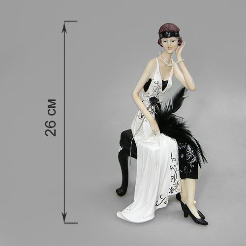 Статуэтка Кокетка на банкетке, высота 26 см514-978Статуэтка Кокетка на банкетке, выполненная из полистоуна, станет отличным украшением интерьера вашего дома или офиса. Статуэтка выполнена в виде дамы в бело-черном платье, сидящей на банкетке поправляющая волосы. Вы можете поставить статуэтку в любом месте, где она будет удачно смотреться, и радовать глаз. Также она может стать оригинальным подарком для всех любителей стильных вещей.