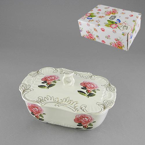 Форма для холодца с крышкой Розита528-345Форма для холодца с крышкой Розита, изготовленная из высококачественного фарфора белого цвета, оформлена золотистой каймой и украшена рисунком в виде роз. Форма для холодца сочетает в себе изысканный дизайн с максимальной функциональностью. Красочность оформления придется по вкусу и ценителям классики, и тем, кто предпочитает утонченность и изысканность.