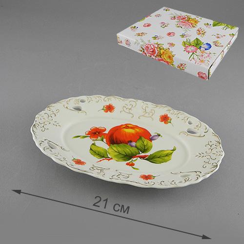 Блюдо Besko Яблоневый сад. 528-346528-346Блюдо Besko Яблоневый сад, изготовленное из фарфора, оформлено изображением яблок и цветов и золотистым орнаментом. Такое блюдо сочетает в себе изысканный дизайн с максимальной функциональностью. Красочность оформления придется по вкусу тем, кто предпочитает утонченность и изящность. Оригинальное блюдо украсит сервировку вашего стола и подчеркнет прекрасный вкус хозяйки, а также станет отличным подарком.