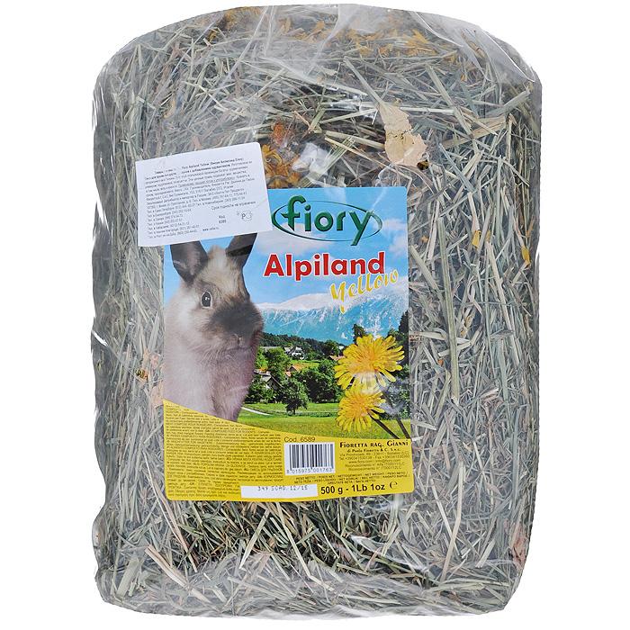 """Альпийское сено для грызунов Fiory """"Alpiland Yellow"""", с одуванчиком, 500 г 06589"""