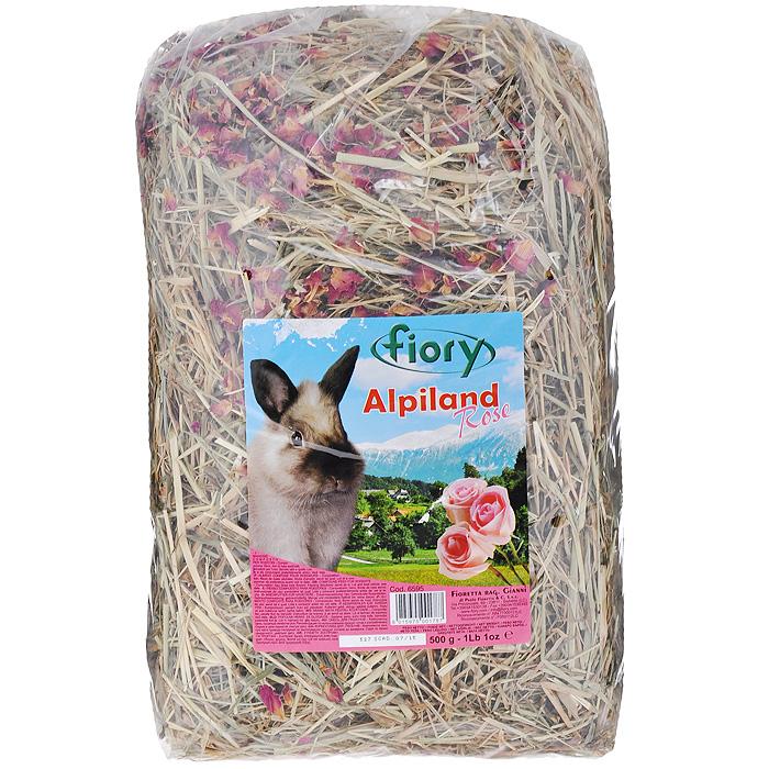 Альпийское сено для грызунов Fiory Alpiland Rose, с розой, 500 г06595Альпийское сено для грызунов Fiory Alpiland Camomile прекрасно подходит для ежедневного рациона всех видов кроликов. Продукт изготовлен из натурального сена Тосканы. Луга этой итальянской провинции богаты клевером, подорожником, одуванчиком, эспарцетом. Эти ценные травы содержат минеральные вещества, в том числе, кварц и кремний. Трава является самым важным продуктом питания кроликов, живущих в природе и на открытом воздухе. Сено ароматное и богатое люцерной посевной, одуванчиком и клевером, высушенное до нужной степени, чтобы не вредить деликатному кишечнику кролика, является маленьким кусочком природы, подаренным вашему кролику. Состав: сено, сушеные лепестки роз. Вес: 500 г. Товар сертифицирован.
