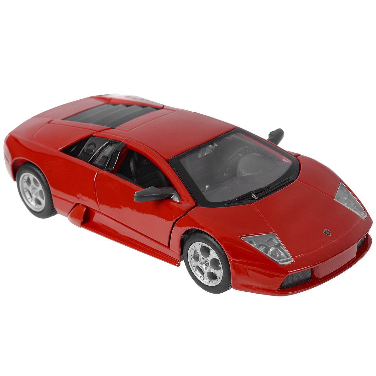 Коллекционная модель Lamborghini Murcielago, цвет: красный, масштаб 1/2431238Коллекционная модель Lamborghini Murcielago - миниатюрная копия настоящего автомобиля. Стильная модель автомобиля привлечет к себе внимание не только детей, но и взрослых. Модель оснащена колесами из мягкой резины, двери автомобиля открываются. Внутри детально проработаны элементы экстерьера. Такая модель станет отличным подарком не только любителю автомобилей, но и человеку, ценящему оригинальность и изысканность, а качество исполнения представит такой подарок в самом лучшем свете.
