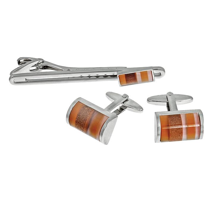 Подарочный набор 'La Geer': заколка для галстука, запонки. 61344