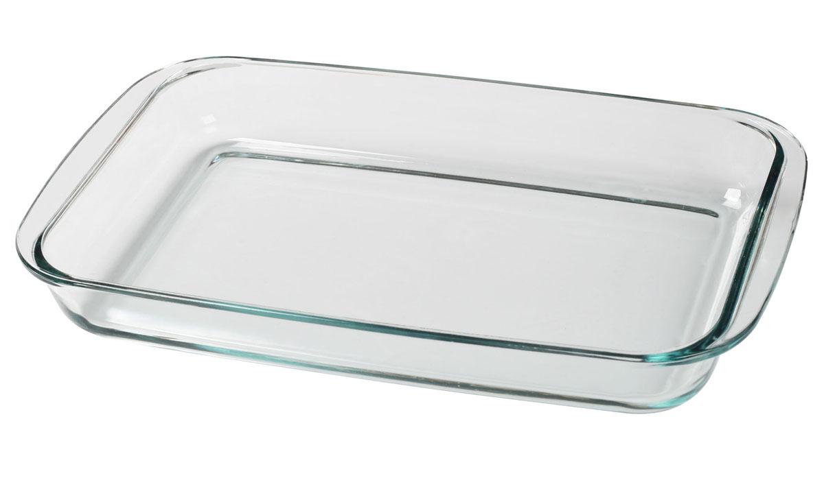 Форма Bekker для СВЧ, 3 лBK-8802Форма Bekker, изготовленная из термостойкого стекла прямоугольной формы, будет отличным выбором для всех любителей блюд, приготовленных в духовке, микроволновой печи или прямо на плите. Форма не вступает в реакцию с готовящейся пищей, а потому не выделяет никаких вредных веществ, не подвергается воздействию кислот и солей. Из-за невысокой теплопроводности пища в стеклянной посуде гораздо медленнее остывает. Стеклянная форма очень удобна для приготовления и подачи самых разнообразных блюд: супов, вторых блюд, десертов. Благодаря прозрачности стекла, за едой можно наблюдать при ее готовке, еду можно видеть при подаче, хранении. Используя эту форму, вы можете как приготовить пищу, так и изящно подать ее к столу, не меняя посуды. Можно мыть и сушить в посудомоечной машине.