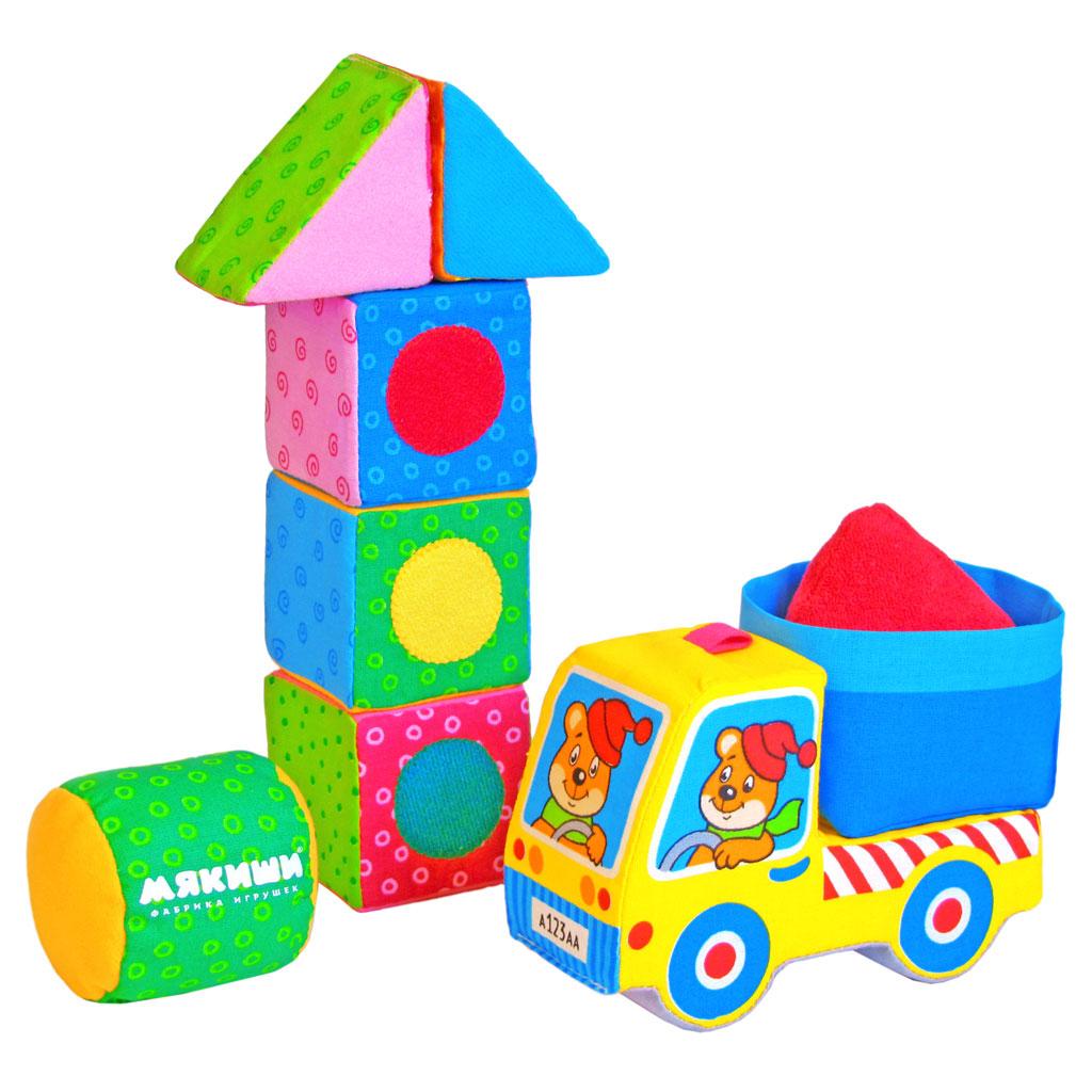 Кубики Мякиши Светофор, желтая машинка244Мягкие кубики Мякиши Светофор помогут вашему ребенку увлекательно и с пользой провести время. Из девяти кубиков малыш сможет собрать светофор, машинку с кузовом или цистерной, дорогу для машины и многое другое. Кубики выполнены из высококачественной ткани с мягким наполнителем. Кубики Светофор с машинкой помогут обучить ребенка основным способам конструирования, развить его речевые способности и воображение. В комплект входят грузовичок, три кубика, цилиндр, два треугольника, кузов и пирамидку, при помощи которых ребенок создаст множество удивительных конструкций. Игра с кубиками способствует развитию логики, цветовосприятия, мелкой моторики рук, в игровой форме знакомит с окружающим миром. Ребенок научится складывать целостный образ из частей, определять недостающие детали.