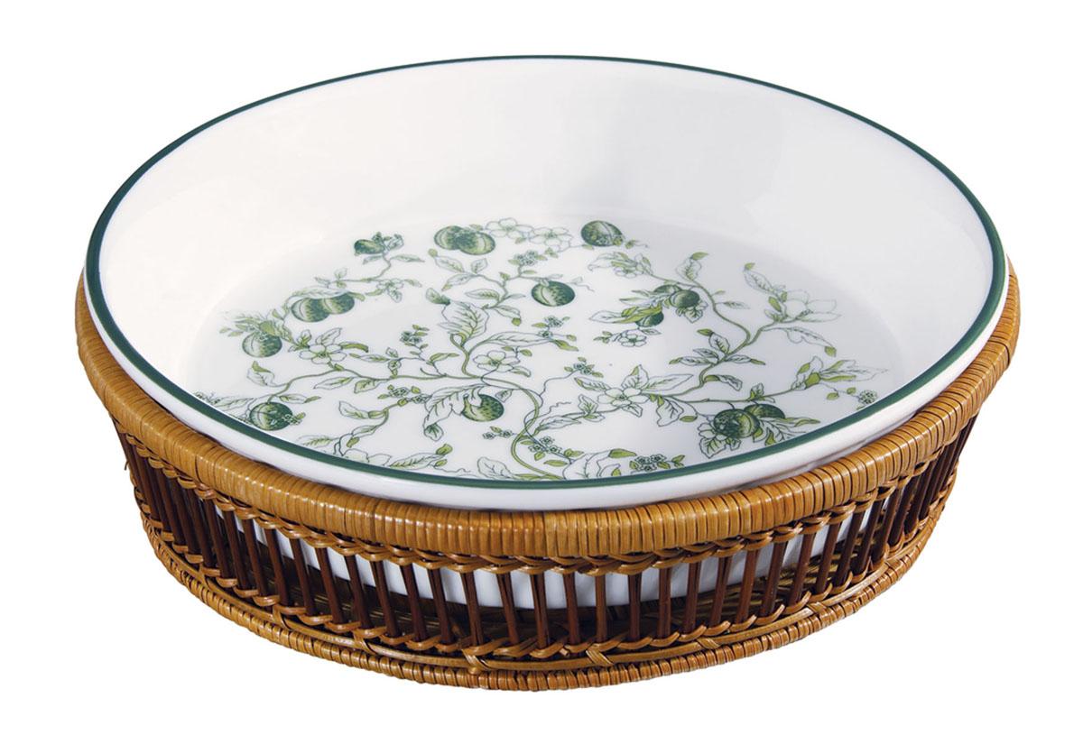 Блюдо Bekker, цвет: зеленый. BK-7000BK-7000 зеленыйКруглое блюдо Bekker, изготовленное из высококачественного фарфора, сочетает в себе изысканный дизайн с максимальной функциональностью. Красочность оформления придется по вкусу и ценителям классики, и тем, кто предпочитает утонченность и изысканность. В комплекте плетеная подставка под блюдо. Подходит для приготовления блюд в печи и духовом шкафу. Блюдо Bekker украсит сервировку вашего стола и подчеркнет прекрасный вкус хозяина, а также станет отличным подарком. Характеристики: Материал: жаропрочная керамика, дерево. Диаметр блюда: 28 см. Высота блюда: 6 см. Размер упаковки: 30,5 см х 30,5 см х 8 см.