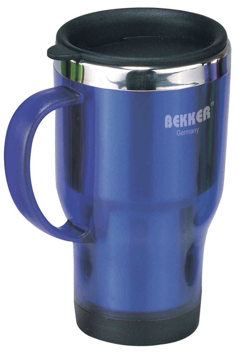 Термос-кружка Bekker, цвет: фиолетовый, 450 мл. BK-4091BK-4091 фиолетовыйТермос-кружка Bekker, выполненный из пластика фиолетового цвета, пригодится как в экстремальном походе, так и на пикнике и в любой поездке. Внутренняя стенка изделия выполнена из нержавеющей стали. Такой термос сохраняет температуру горячей или холодной воды до 24 часов (через 6 часов - 52°С, через 12 часов - 18°С, через 24 часа - 18°С). Крышка выполнена из пластика и оснащена клапаном для питья. Термос-кружка очень компактен и не займет много места. Теперь вы в любое время и в любом месте сможете насладиться вашим любимым напитком.