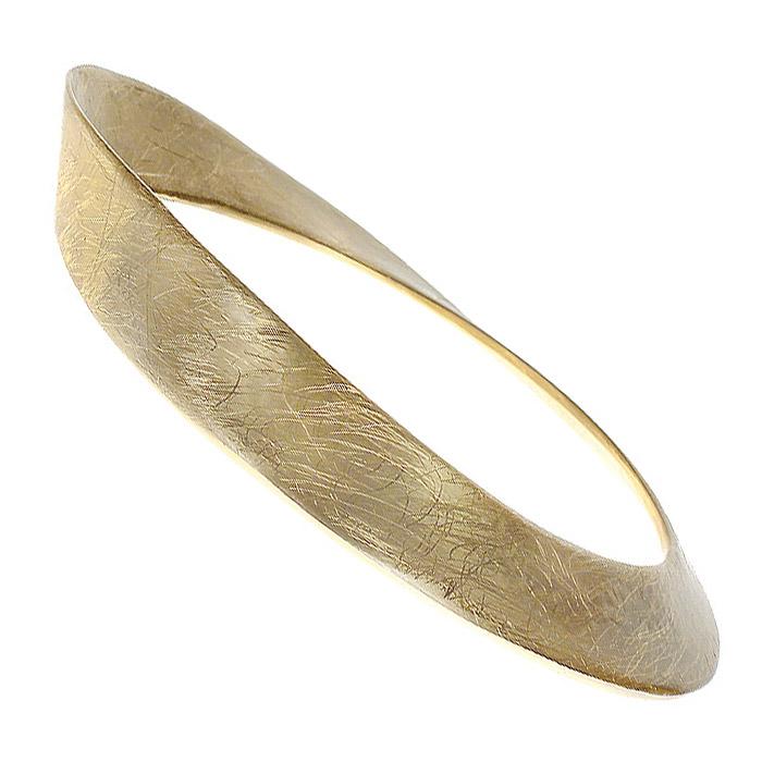 Браслет Afrodita, цвет: золотистый. 4004957040049570Стильный браслет Afrodita выполнен из металла с гальванической позолотой в виде дуги. Браслет - это модный стильный аксессуар, призванный подчеркнуть индивидуальность и очарование его обладательницы.