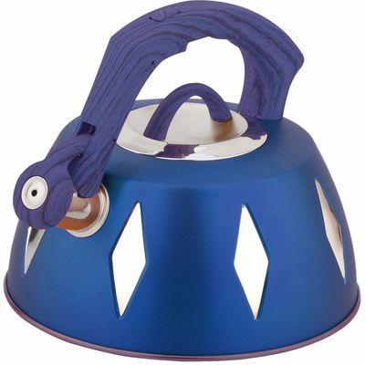 Чайник металлический Bekker De Luxe, цвет: синий, 2,8 л. BK-S455BK-S455 синийКорпус чайника Bekker De Luxe выполнен из высококачественной нержавеющей стали, что обеспечивает долговечность использования. Цветной корпус. Пластмассовая фиксированная ручка с прорезиненным покрытием делает использование чайника очень удобным и безопасным. Чайник снабжен свистком и устройством для открывания носика. Капсулированное дно. Подходит для использования на электрических, газовых, стеклокерамических, галогеновых, Можно мыть в посудомоечной машине. Характеристики: Материал: нержавеющая сталь, пластик, резина. Объем: 2,8 л. Диаметр основания чайника: 22,5 см. Толщина стенки: 0,5 мм. Высота чайника (без учета ручки): 11 см. Размер упаковки: 22,5 см х 22,5 см х 20 см.
