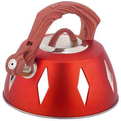 Чайник металлический Bekker De Luxe, цвет: красный, 2,8 л. BK-S455BK-S455 красныйКорпус чайника Bekker De Luxe выполнен из высококачественной нержавеющей стали, что обеспечивает долговечность использования. Цветной корпус. Пластмассовая фиксированная ручка с прорезиненным покрытием делает использование чайника очень удобным и безопасным. Чайник снабжен свистком и устройством для открывания носика. Капсулированное дно. Подходит для использования на электрических, газовых, стеклокерамических, галогеновых плитах. Можно мыть в посудомоечной машине.