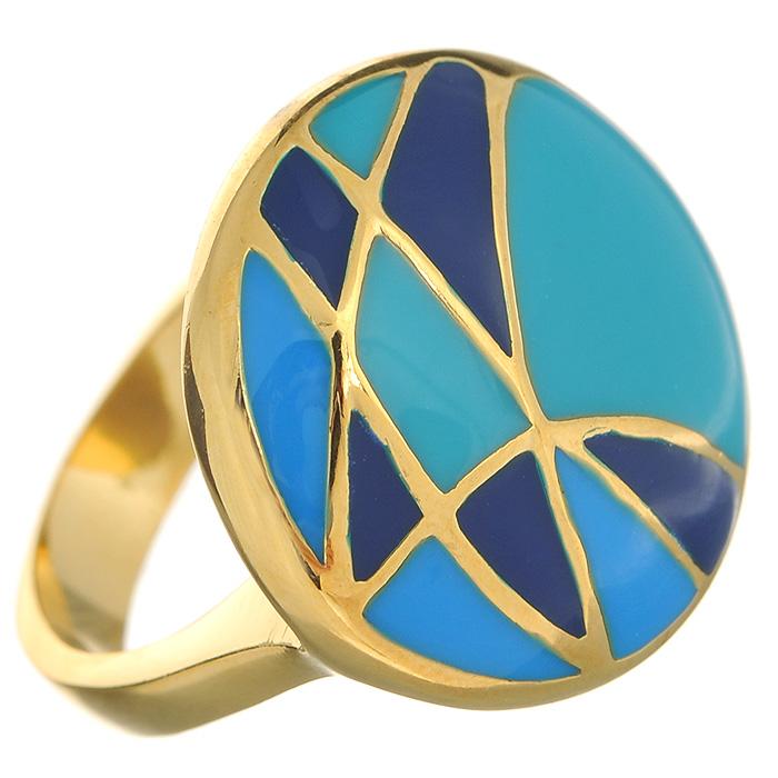 Кольцо Arabesca, цвет: золотистый. Размер 18. 6002018860020188Оригинальное кольцо Arabesca, выполненное из металла с гальваническим золотистым покрытием, декорировано разноцветной эмалью. Кольцо позволит вам с легкостью воплотить самую смелую фантазию и создать собственный, неповторимый образ.