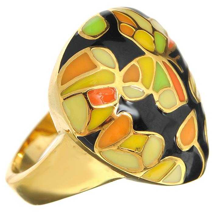 Кольцо Arabesca, цвет: золотистый. Размер 18. 6002019860020198Оригинальное кольцо Arabesca, выполненное из металла с гальваническим золотистым покрытием, декорировано разноцветной эмалью. Кольцо позволит вам с легкостью воплотить самую смелую фантазию и создать собственный, неповторимый образ.
