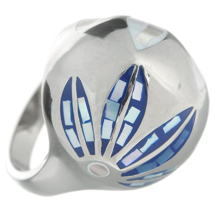 Кольцо Arabesca, цвет: серебристый. Размер 18. 6002021860020218Оригинальное кольцо Arabesca, выполнено из металла с гальваническим покрытием родием, украшено эмалью. Такое кольцо позволит вам с легкостью воплотить самую смелую фантазию и создать собственный, неповторимый образ.