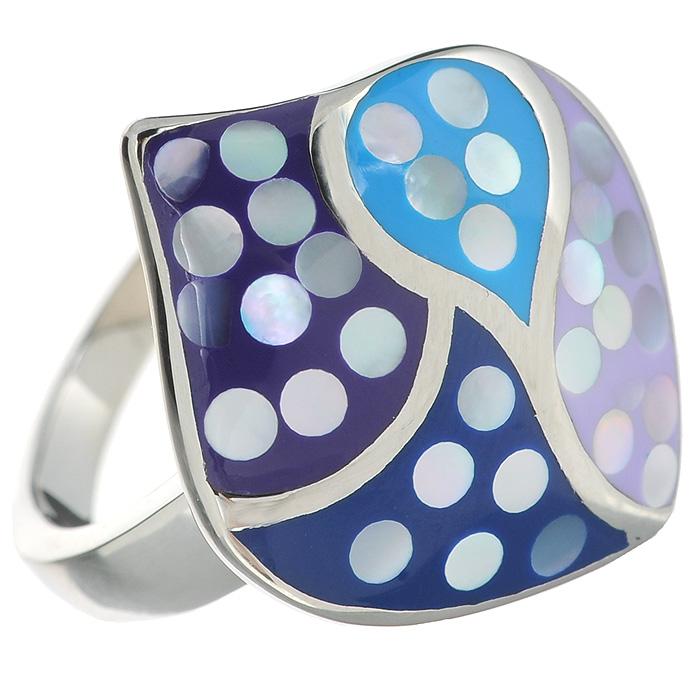 Кольцо Arabesca, цвет: серебристый. Размер 18. 6002023860020238Оригинальное кольцо Arabesca, выполнено из металла с гальваническим покрытием родием, украшено эмалью. Такое кольцо позволит вам с легкостью воплотить самую смелую фантазию и создать собственный, неповторимый образ.